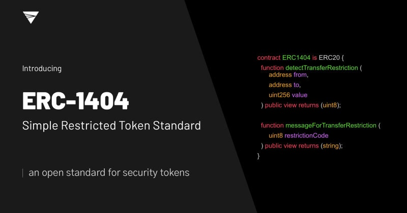 ERC-1404: Another Security Token Standard from the Ethereum Community