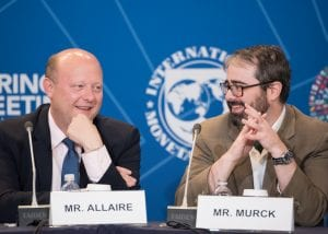 Photo of Circle CEO Jeremy Allaire speaking at an international conference