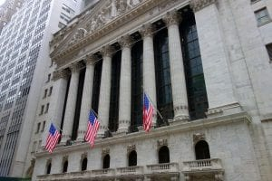 Photo of the New York Stock Exchange on Wall Street in New York City