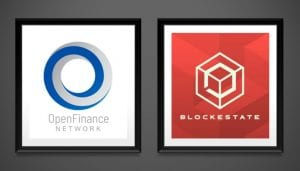 Company Logos of OpenFinance Network and BlockEstate