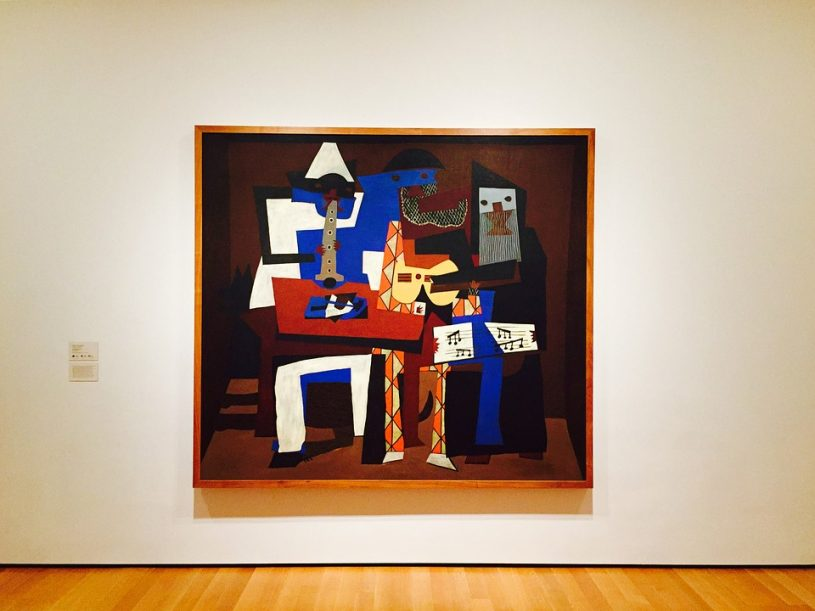 Picasso painting hung in art museum