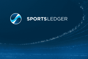 SportsLedger company logo with blue background