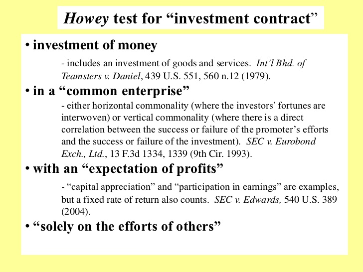 Howey Test