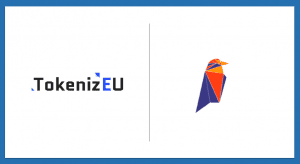 TokenizEU and Ravencoin Logos with white background