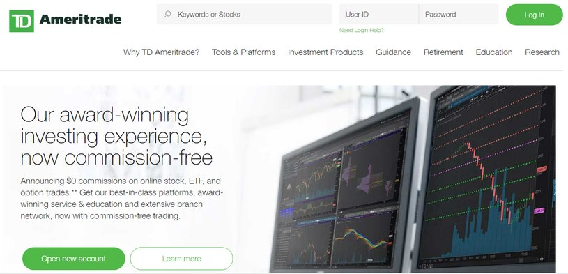 TD Ameritrade With Discount Broker