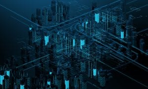 Digital buildings exemplifying the tokenization of real estate on a blockchain