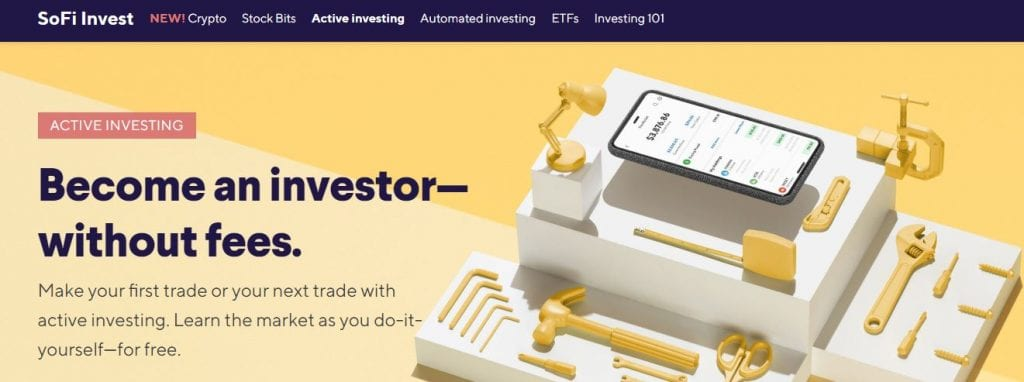 SoFi Invest Active Investing page
