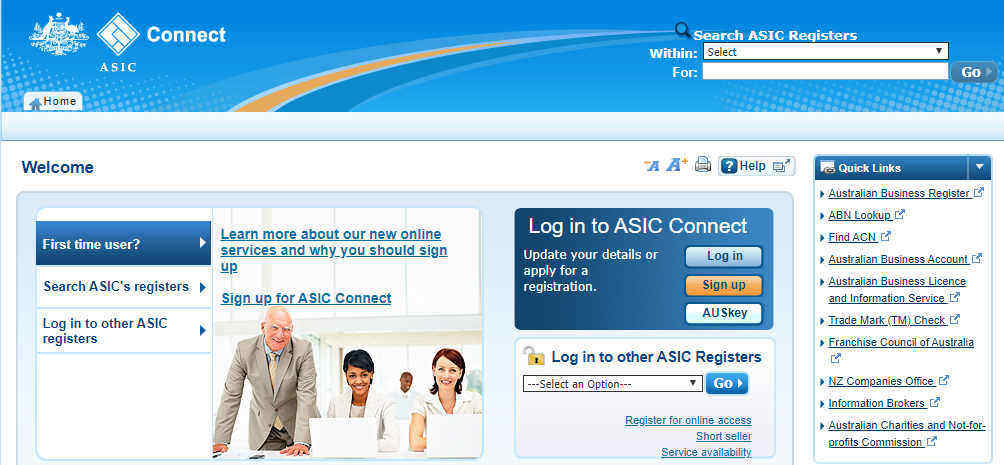 ASIC License Application Page