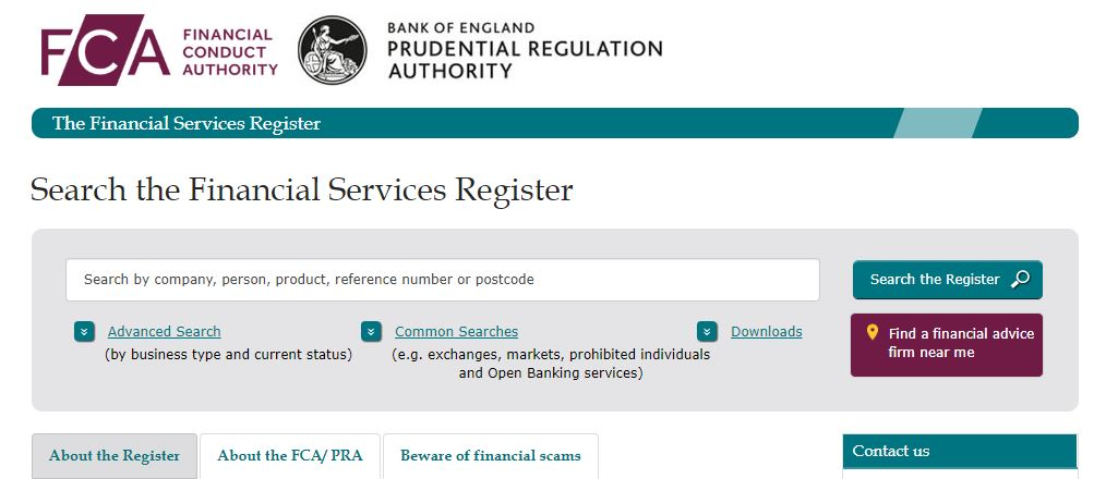 Financial Conduct Authority Registration