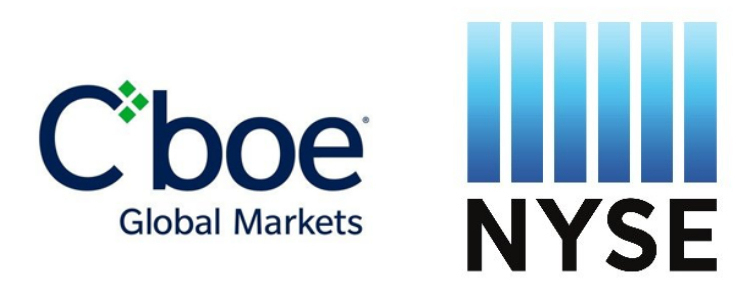 CBOE and NYSE logos