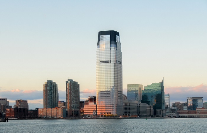 Panoramic picture of Goldman Sachs building