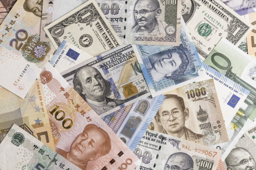 picture of foreign currencies that are available for forex trading according to forex trading regulations in the U.S.