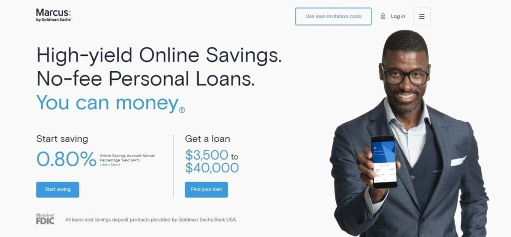 Marcus Loans Homepage