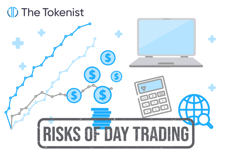 The Tokenist illustration presenting risks of day trading